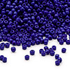 Seed bead, Dyna-Mites™, glass, opaque navy blue, #11 round. Sold per 1/2 kilogram pkg.