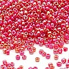 Seed bead, Dyna-Mites™, glass, opaque rainbow ruby, #11 round. Sold per 40-gram pkg.