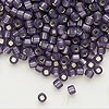 Seed bead, Dyna-Mites™, glass, silver-lined matte amethyst purple. Sold per 1/2 kilogram pkg.