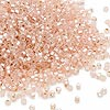 Seed bead, Dyna-Mites™, glass, silver-lined matte light pink, #11 round with square hole. Sold per 1/2 kilogram pkg.