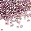 Seed bead, Dyna-Mites™, glass, silver-lined rainbow light purple, #11 round with square hole. Sold per 1/2 kilogram pkg.