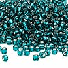 Seed bead, Dyna-Mites™, glass, silver-lined teal, #6 round. Sold per 1/2 kilogram pkg.