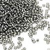 Seed bead, Dyna-Mites™, glass, silver-lined transparent gunmetal, #11 round. Sold per 40-gram pkg.