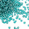 Seed bead, Dyna-Mites™, glass, silver-lined transparent teal, #11 round. Sold per 40-gram pkg.