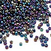 Seed bead, Dyna-Mites™, glass, transparent rainbow iris, #11 round. Sold per 1/2 kilogram pkg.