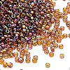 Seed bead, Dyna-Mites™, glass, transparent rainbow root beer, #11 round. Sold per 1/2 kilogram pkg.