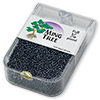 Seed bead, Ming Tree™, glass, opaque luster black, #11 round. Sold per pkg of 1/4 pound.