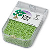 Seed bead, Ming Tree™, glass, opaque luster lime green, #11 round. Sold per pkg of 1/4 pound.