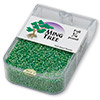 Seed bead, Ming Tree™, glass, opaque rainbow green, #11 round. Sold per pkg of 1/4 pound.