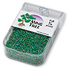 Seed bead, Ming Tree™, glass, rainbow emerald green, #11 round. Sold per pkg of 1/4 pound.