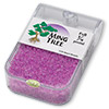 Seed bead, Ming Tree™, glass, transparent color-lined lilac, #11 round. Sold per pkg of 1/4 pound.