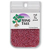 Seed bead, Ming Tree™, glass, transparent luster ruby red, #11 round. Sold per pkg of 1/4 pound.