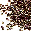 Seed bead, Miyuki, glass, metallic rainbow bronze, (#462), #15 rocaille. Sold per 250-gram pkg.