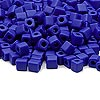 Seed bead, Miyuki, glass, opaque frosted cobalt, (#SB414F), 3.5-3.7mm square. Sold per 25-gram pkg.