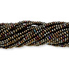 Seed bead, Preciosa Czech glass, iris gold, #11 round. Sold per pkg of 1 hank.