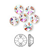 Sew-on component, Swarovski crystal, crystal AB, 8mm flat foil back Xilion (3204). Sold per pkg of 6.