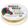 Wire, Zebra Wire™, brass, gold color, round, 26 gauge. Sold per 30-yard spool.