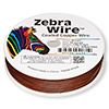 Wire, Zebra Wire™, color-coated copper, brown, round, 28 gauge. Sold per 1/4 pound spool, approximately 164 yards.