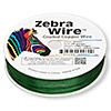 Wire, Zebra Wire™, color-coated copper, green, round, 28 gauge. Sold per 1/4 pound spool, approximately 164 yards.