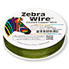 Wire, Zebra Wire™, color-coated copper, lime green, round, 26 gauge. Sold per 1/4 pound spool, approximately 115 yards.