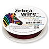 Wire, Zebra Wire™, color-coated copper, magenta, round, 28 gauge. Sold per 40-yard spool.