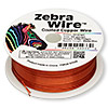 Wire, Zebra Wire™, color-coated copper, orange, round, 22 gauge. Sold per 1/4 pound spool, approximately 45 yards.
