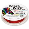 Wire, Zebra Wire™, color-coated copper, red, round, 28 gauge. Sold per 40-yard spool.