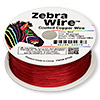 Wire, Zebra Wire™, color-coated copper, red, round, 30 gauge. Sold per 1/4 pound spool, approximately 215 yards.
