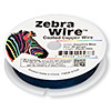 Wire, Zebra Wire™, color-coated copper, sapphire blue, round, 30 gauge. Sold per 50-yard spool.