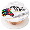 Wire, Zebra Wire™, natural copper, round, 24 gauge. Sold per 20-yard spool.