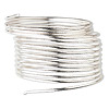 Wire, sterling silver, half-hard, round, 18 gauge. Sold per 25-foot spool.