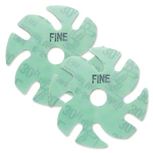 abrasive disc, 3m™ ninja™ microfinishing diamond, plastic, green, 400 grit, 3-inch replacement disc for jooltool™. sold per pkg of 2.