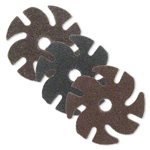 abrasive disc, 3m™ scotch-bright™ exl unitized, plastic, brown, fine to coarse grit, 3-inch replacement abrasive disc for jooltool™. sold per set of 3.