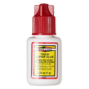 adhesive, tenax plus super glue, clear. sold per 0.24-fluid ounce bottle.