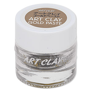 art clay, 22kt gold, paste with medium compound. sold per 1.5-gram jar.
