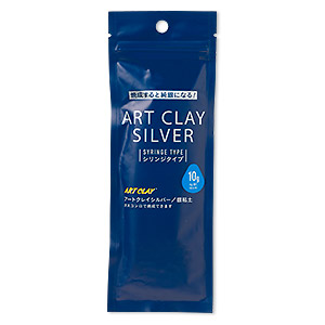 art clay silver, low fire, slow dry formula, filled replacement syringe without tips. sold per 10-gram syringe.