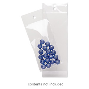 bag, clean-vu, plastic, clear, 4x2-inch rectangle with top hole. sold per pkg of 1,000.