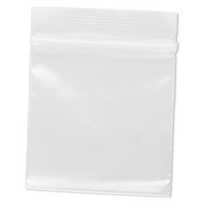 bag, tite-lip™, plastic, clear, 2x2-inch top zip. sold per pkg of 100.