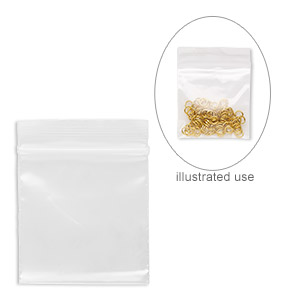 bag, tite-lip™, plastic, clear, 2x2-inch top zip. sold per pkg of 1,000.