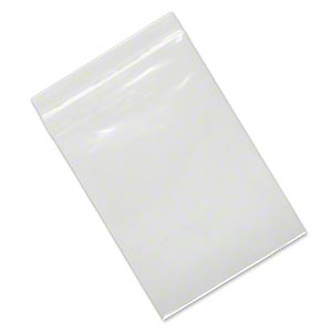 bag, tite-lip™, polypropylene, clear, 5-1/2 x 4-inch top zip. sold per pkg of 200.