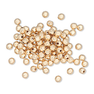 bead, 12kt gold-filled, 3mm faceted round with 0.6mm hole. sold per pkg of 100.