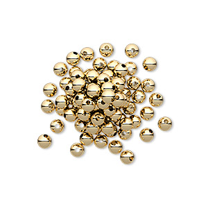 bead, 14kt gold-filled, 3mm smooth round. sold per pkg of 100.