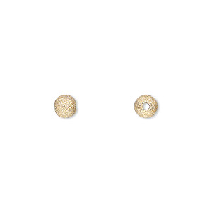 bead, 14kt gold-filled, 5mm stardust round. sold per pkg of 4.