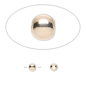 bead, 14kt rose gold-filled, 4mm seamless round. sold per pkg of 10.