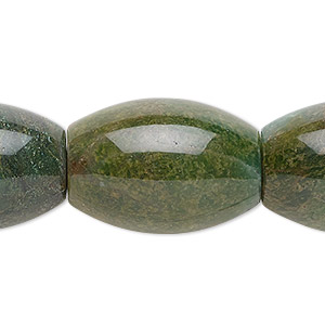 bead, african jade (natural), 25x18mm barrel, b grade, mohs hardness 7. sold per 8-inch strand, approximately 5 beads.