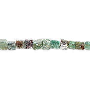 bead, african jade (natural), 4x4mm cube, b grade, mohs hardness 7. sold per 16-inch strand.
