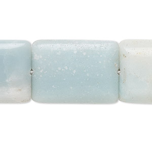 bead, amazonite (natural), 25x18mm flat rectangle, b grade, mohs hardness 6 to 6-1/2. sold per 16-inch strand.