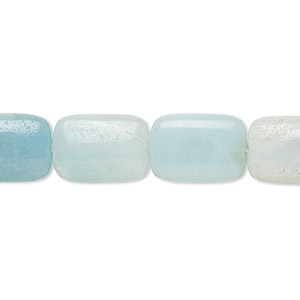 bead, amazonite (natural), light and dark, 14x10mm rectangle, b grade, mohs hardness 6 to 6-1/2. sold per 16-inch strand.