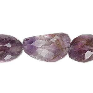 bead, ametrine (natural), small to large hand-cut faceted nugget, mohs hardness 7. sold per 7-inch strand.