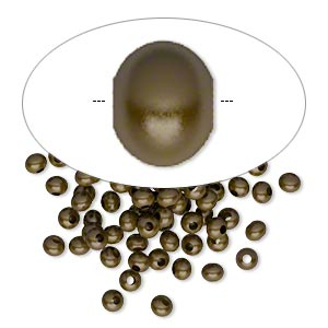 bead, antique brass-plated brass, 3x2mm rondelle. sold per pkg of 100.